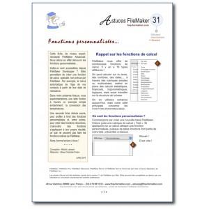 31 Fonctions personnalisées