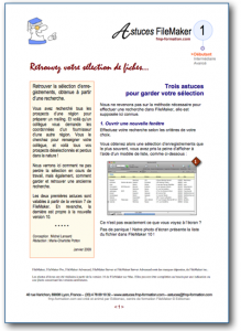 Fiches Astuces FileMaker