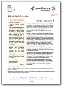 Fiche Astuce FileMaker N°52