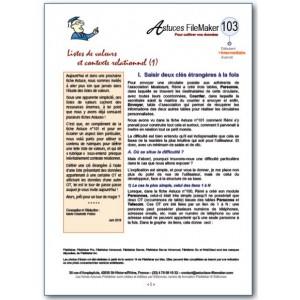 103 Listes de valeurs et contexte (1)